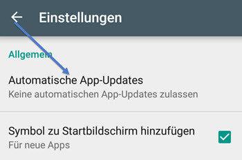 Automatische App-Update