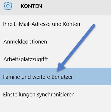 Familie und weitere Benutzer