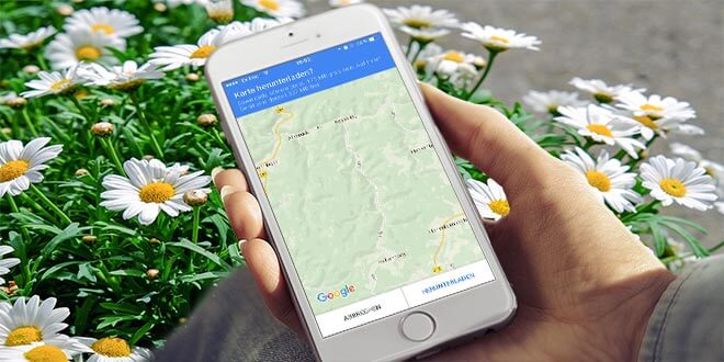 iPhone: Google Maps offline speichern