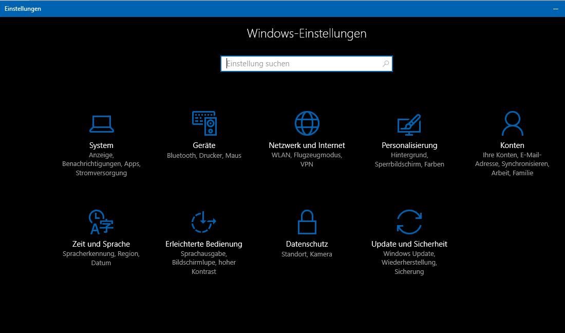 Bild von Windows 10 Dark-Theme freischalten und benutzen