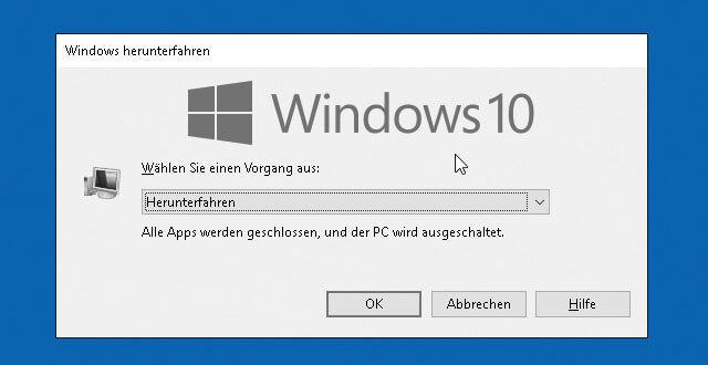 Bild von Windows 10 Herunterfahren – alle Möglichkeiten