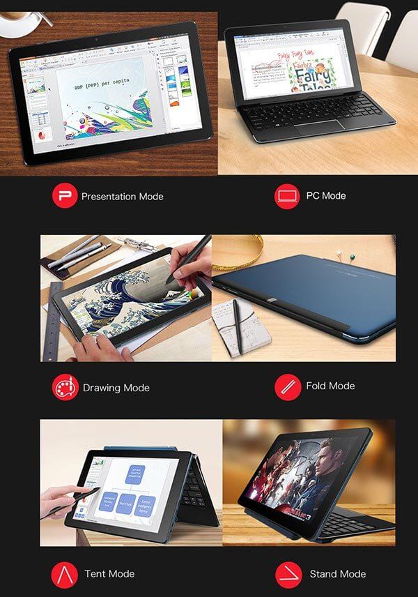 cube i7 - Cube i7 Book Windows 10 10.6 Tablet 4GB RAM 64GB SSD - Aktion für 268€