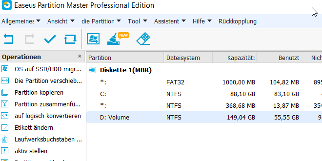 easeus partition master professional 11.5 - EaseUS Partition Master Professional in Version 11.9 erschienen
