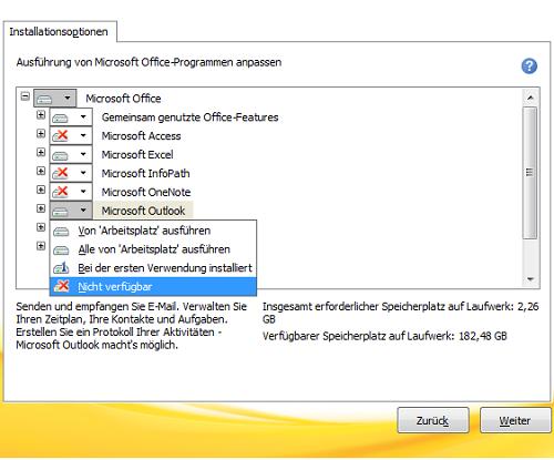 microsoft outlook entfernen 5332e3e3 - Microsoft Outlook deinstallieren