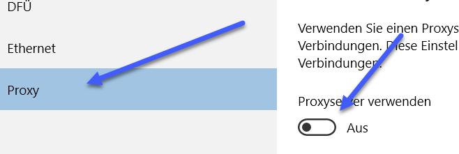 proxyserver verwenden