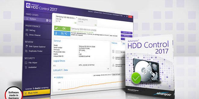 Ashampoo HDD Control 2017 ausprobiert – Kostenlose Vollversion