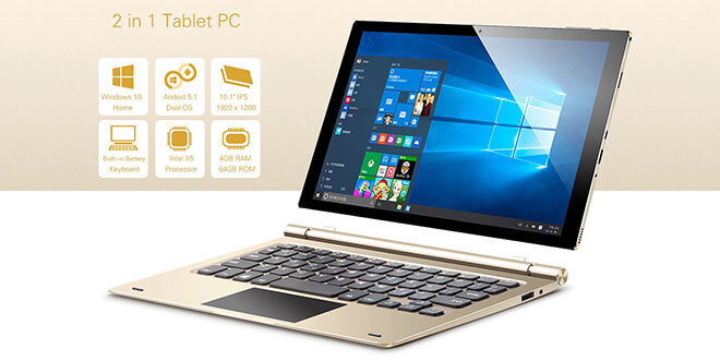tbook 10 - Teclast Tbook 10 - 2 in 1 Tablet PC mit Windows 10 + Android