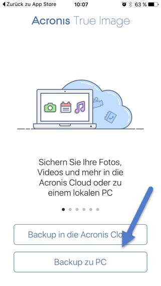 Backup zu pc
