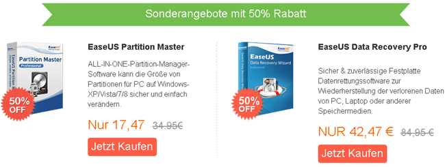 EaseUS Partition Master EaseUS Data Recovery Pro