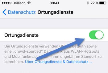 Ortungsdienst iphone