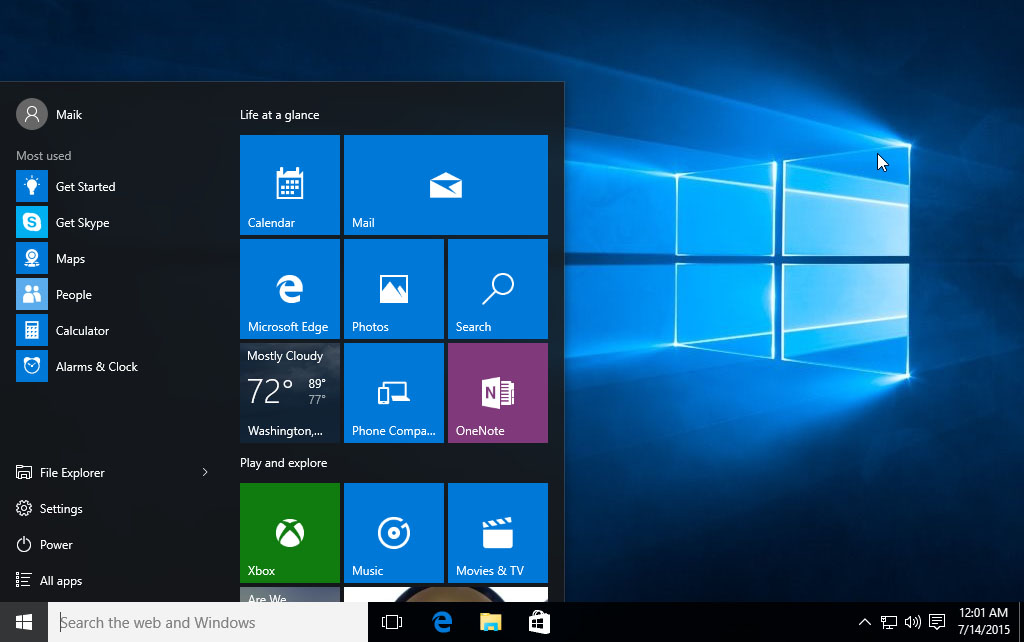 windows 10 screenshot - Windows 10 die ersten Schritte