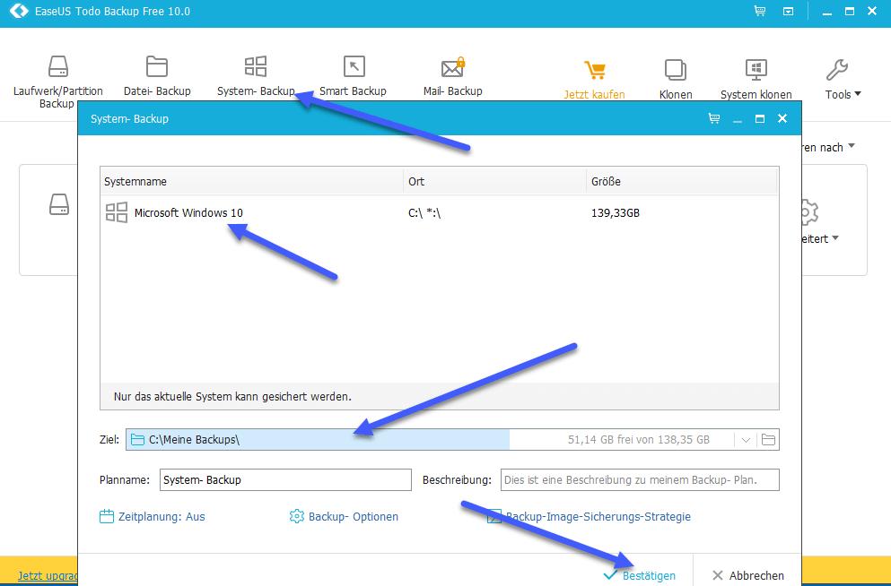 system backup - EaseUS Todo Backup Home Version 10.0 erschienen + 5 Lizenzen zu gewinnen
