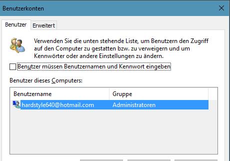 unbenannt - Windows 10 Passwortabfrage deaktivieren NEU!
