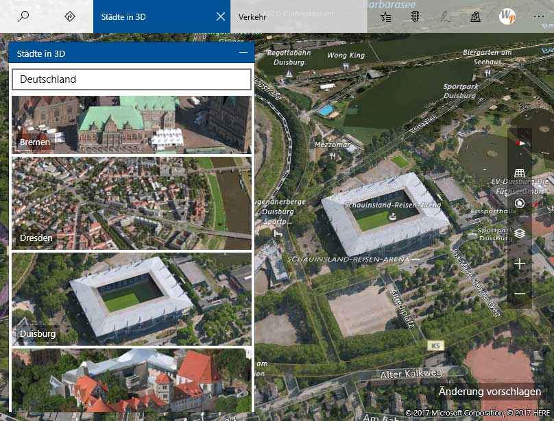3d ansichten von staedten bei windows 10 - 3D Ansichten von Städten bei Windows 10 anschauen