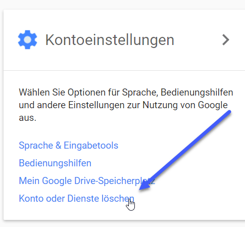 konto oder denste loeschen - Google Konto Account löschen
