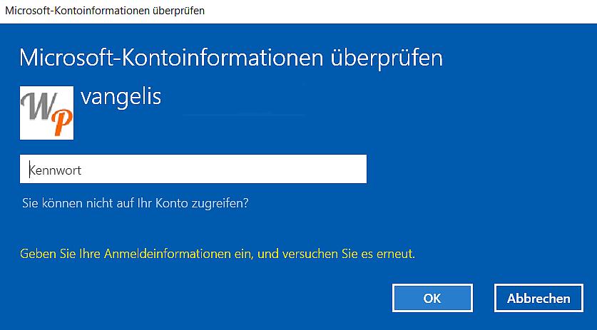 passwort - Windows 10: PIN zum entsperren des Computers einrichten