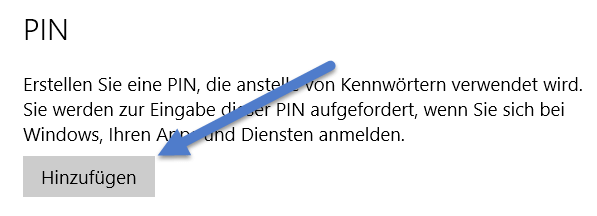 pin hinzufuegen - Windows 10: PIN zum entsperren des Computers einrichten