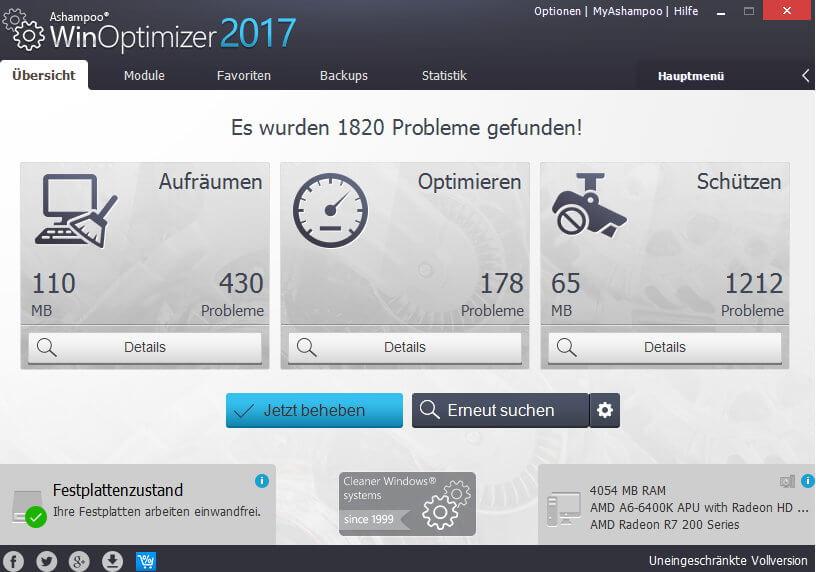 scr ashampoo winoptimizer 2017 searching - Ashampoo WinOptimizer 2017 Kostenlos