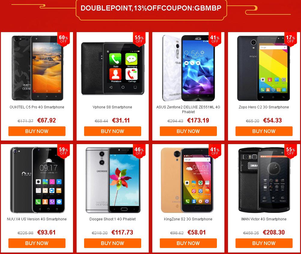 smartpones - Chinesische Neujahr Aktion bei gearbest.com