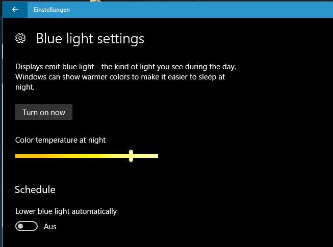 unbenannt 2 - Windows 10 Blaulicht-Filter aktivieren