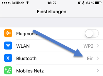 bluetooth - 7 Tipps wie Sie bei Ihrem iPhone Akku sparen können