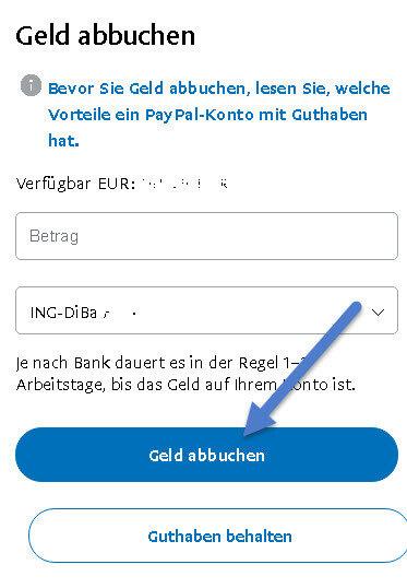 Geld Von Paypal Auf Bankkonto