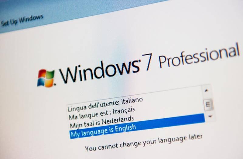 Einrichtung des Systems  grafik-von-windows-7