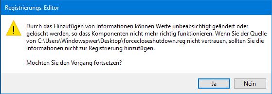 unbenannt 5 - Windows 10 Herunterfahren erzwingen