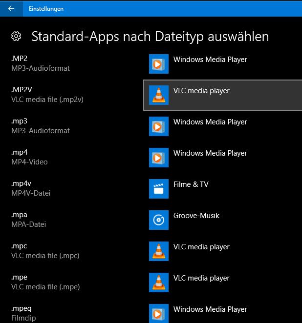 Bild von Windows 10 Dateiendungen zuweisen