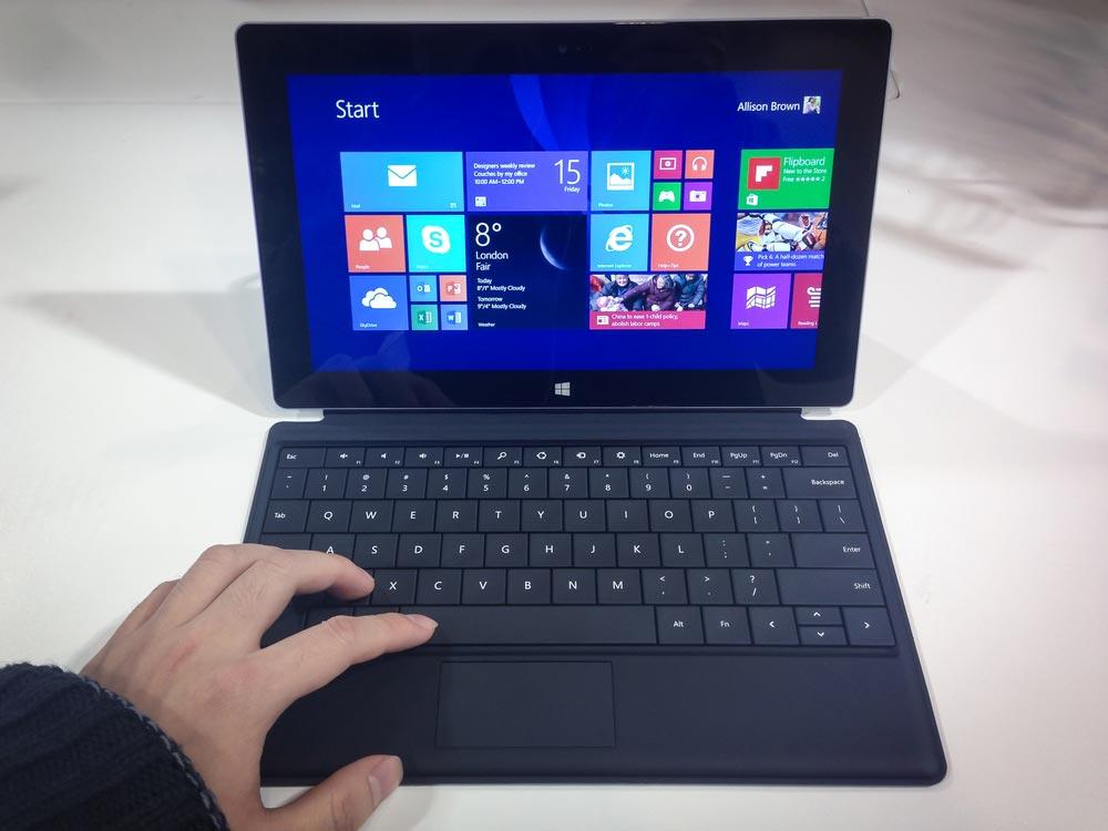 Bedienung des Notebooks windows-8-oberflaeche