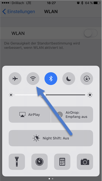 wlan menue - 7 Tipps wie Sie bei Ihrem iPhone Akku sparen können
