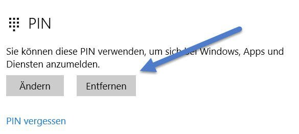 pin entfernen - Windows 10 PIN entfernen – So geht's