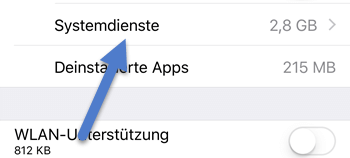 systemdienste - iPhone: Hotspot Datenverbrauch anzeigen