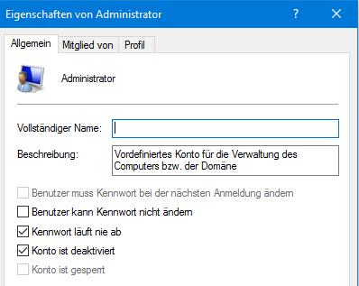 unbenannt 1 - Administrator über die Computerverwaltung aktivieren