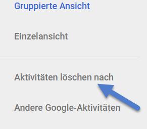 aktivitaeten loeschen nach - Google History - Meine Aktivitäten löschen - So geht's