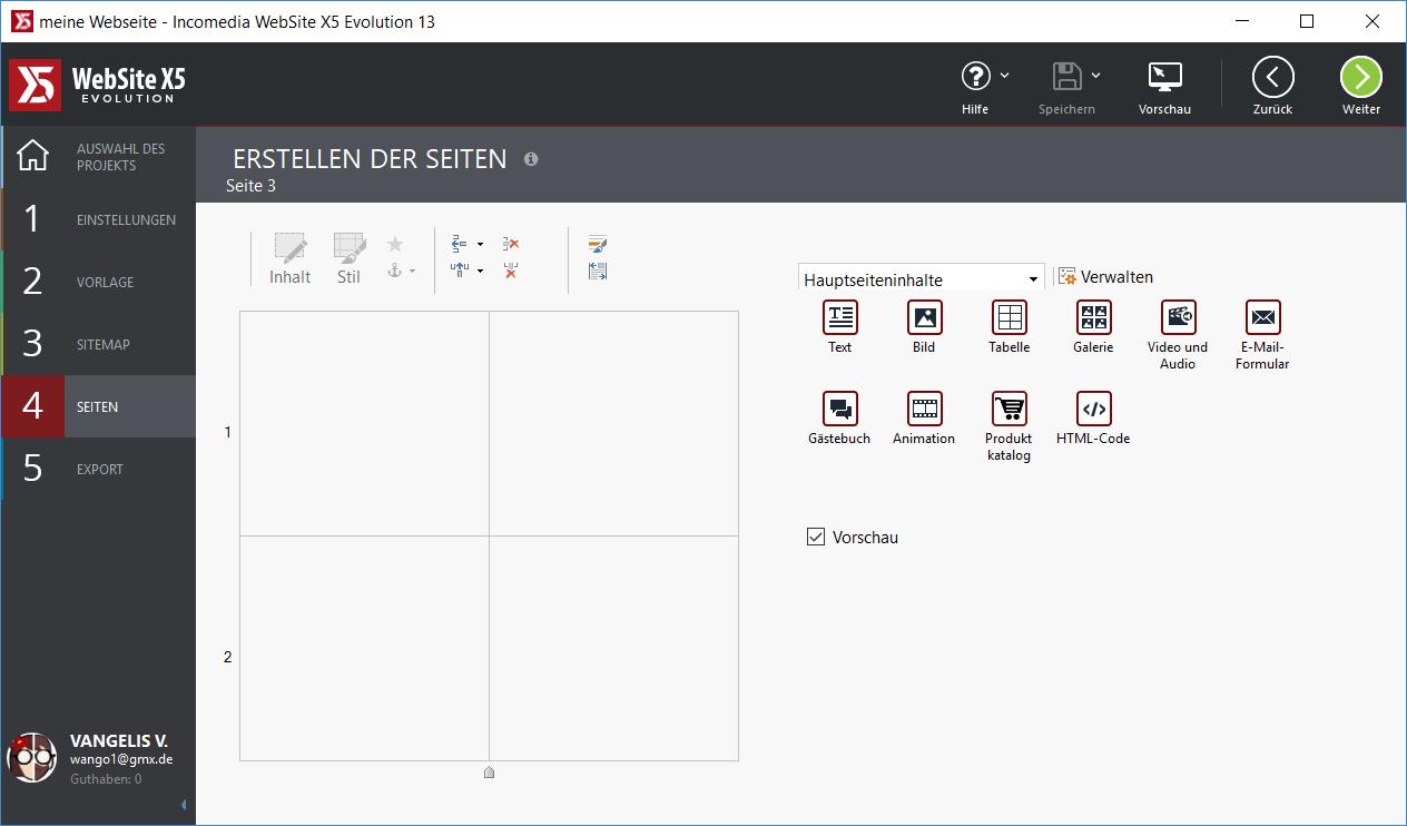 erstellen von seiten - WebSite X5 Evolution 13 ausprobiert - 5 Lizenzen zu gewinnen