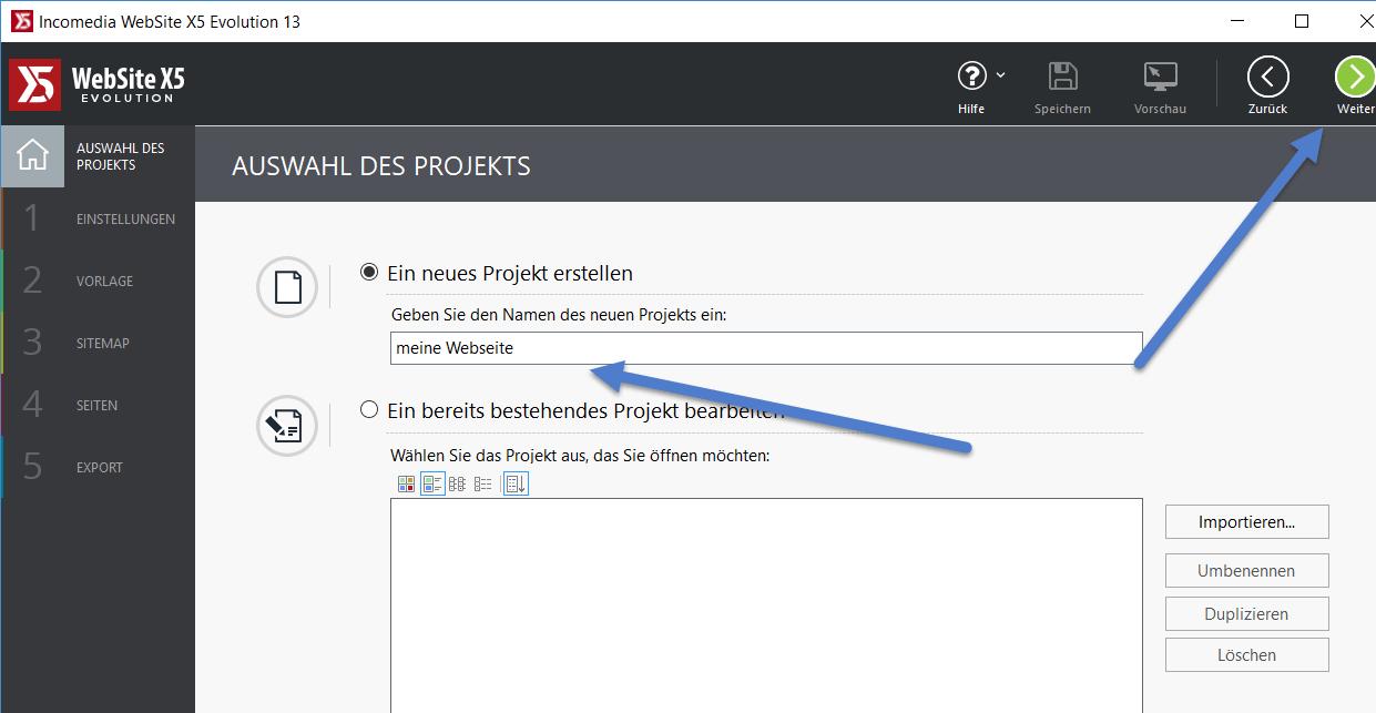 projekt - WebSite X5 Evolution 13 ausprobiert - 5 Lizenzen zu gewinnen
