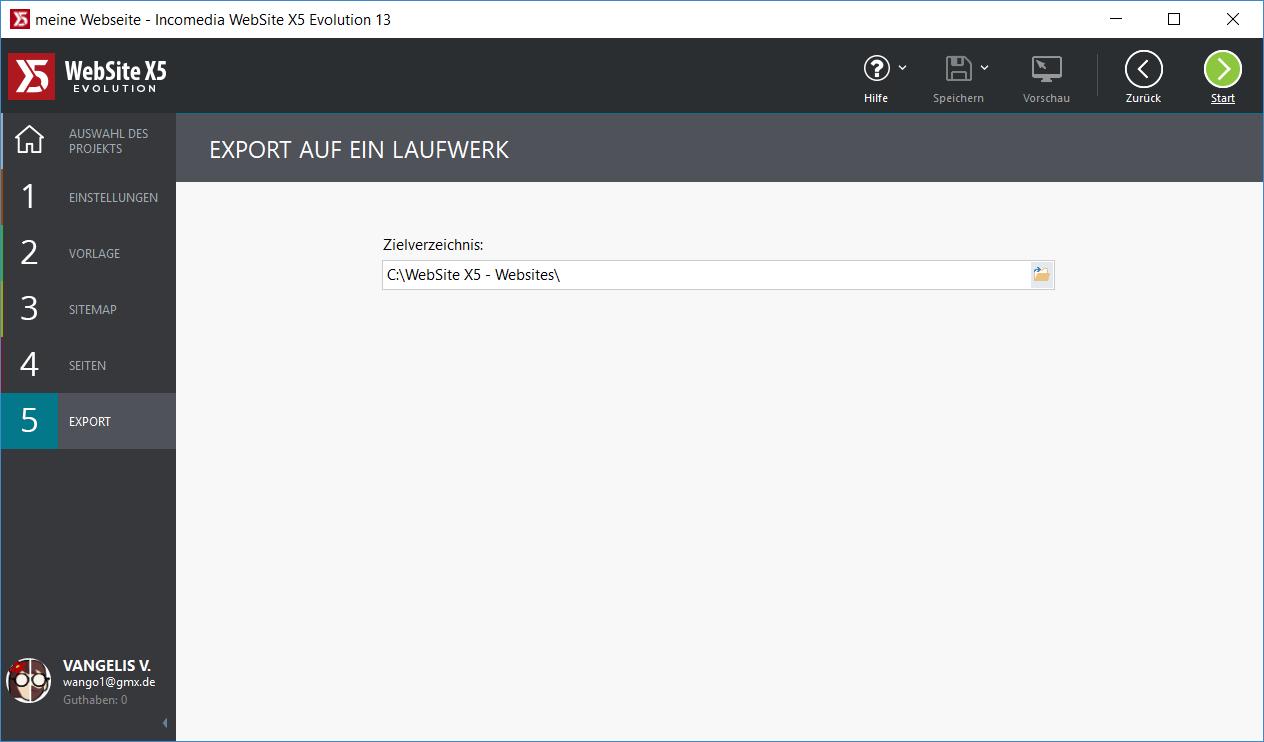 webseite speichern - WebSite X5 Evolution 13 ausprobiert - 5 Lizenzen zu gewinnen
