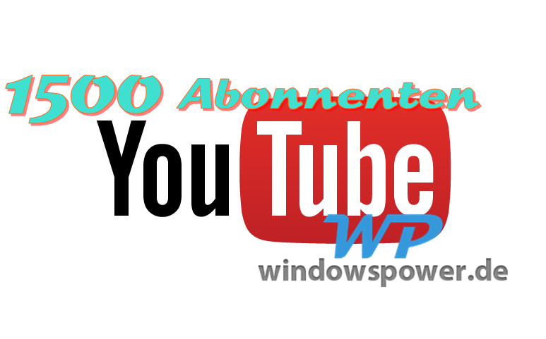 youtube logo full color 1 - Windowspower sagt DANKE!
