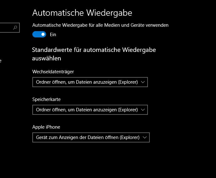 unbenannt 2 - Windows 10 autom. Wiedergabe Standardwerte einstellen