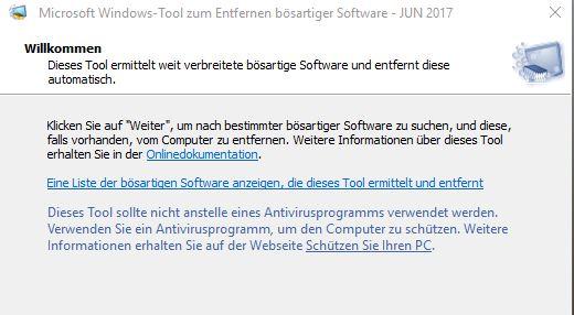 unbenannt - Windows verstecktes Tool um Malware zu entfernen