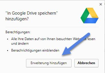 Google Drive erweiterung-hinzufuegen