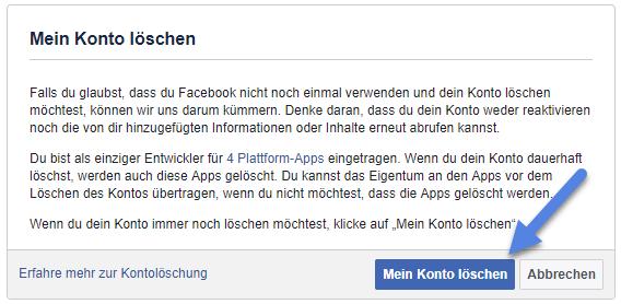 facebook konto loeschen - Facebook Account löschen – Konto deaktivieren - so geht's