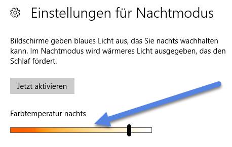 fartemperatur nachts - Nachtmodus bei Windows 10 aktivieren - Deaktivieren Anpassen Planen