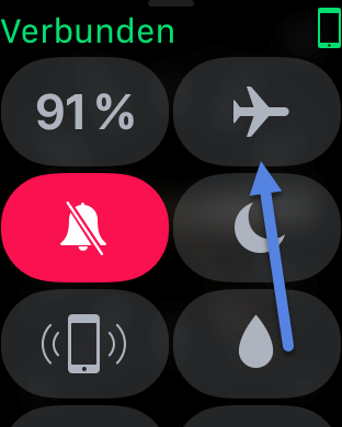 flugmodus-aktiveren-apple-watch