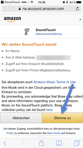 soundtouch app amazon erlauben - Amazon Music auf Bose Streamen mit SoundTouch-App
