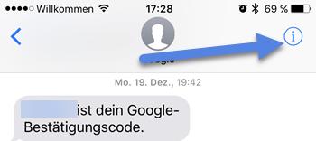 SMS blockieren