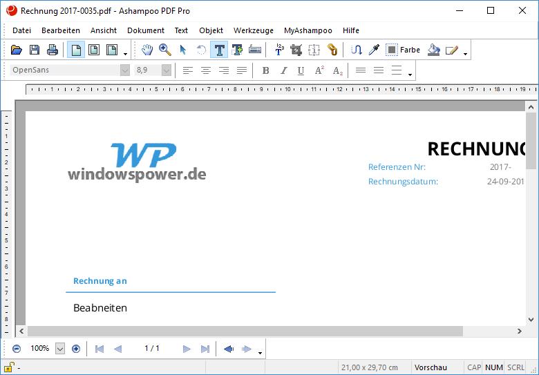 Ashampoo PDF Pro- Ashampoo PDF Pro ausprobiert – Konvertieren, Erstellen & Bearbeiten von PDF-Dateien