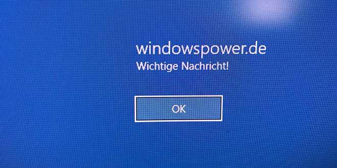 windows 10 eigene Nachricht windows-10-eigene-nachricht