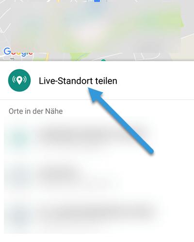Android Live-Satndort teilen